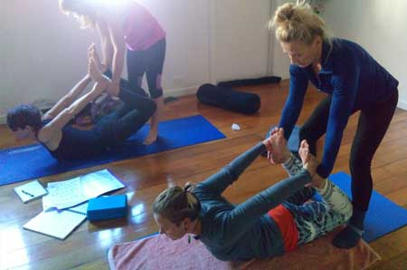 hands-on adjustment yoga